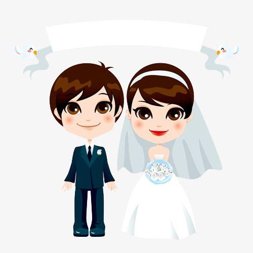 Creative Cartoon Wedding Couple Marriage Cartoon Couple Cartoon