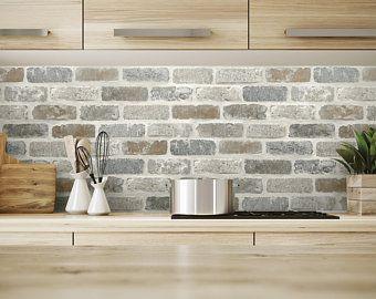 Self Adhesive Wallpaper Brick Peel And Stick Rustic Brick Etsy Brick Wallpaper Peel And Stick Brick Wallpaper Peel And Stick Wallpaper
