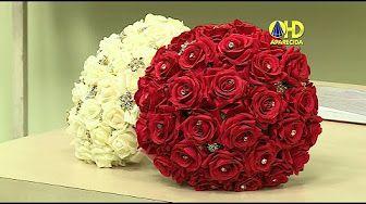 Bola de flores de Papel Crepom || TUTORIAL || Paper crepe flowers - YouTube