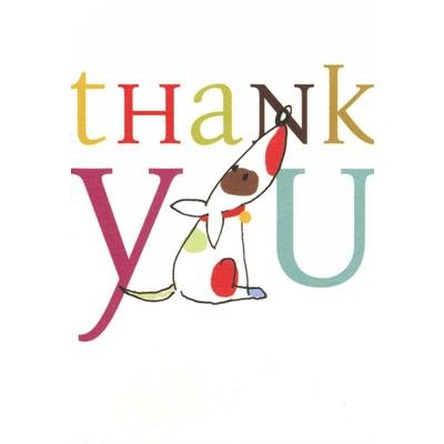 PACK OF 10 MINI THANK YOU CARDS illustrated by Caroline Gardner - thank you notes for donation