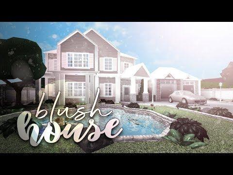 Roblox Bloxburg Blush House House Build Youtube Building