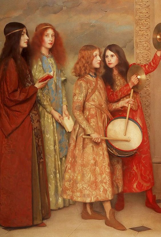Thomas COOPER GOTCH A Pageant of Childhood (Detail) 1895: