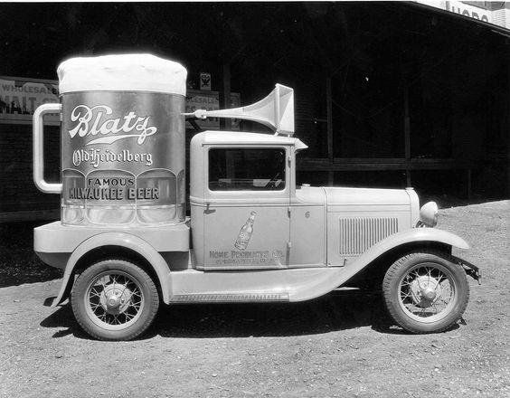 1920's Advertising truck for Blatz Beer