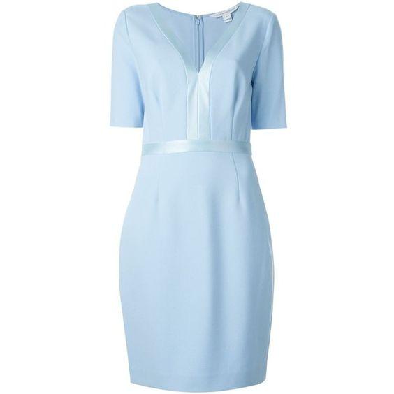 Diane Von Furstenberg Maisie Dress (53855 RSD) ❤ liked on Polyvore featuring dresses, blue, diane von furstenberg, diane von furstenberg dresses and blue dress