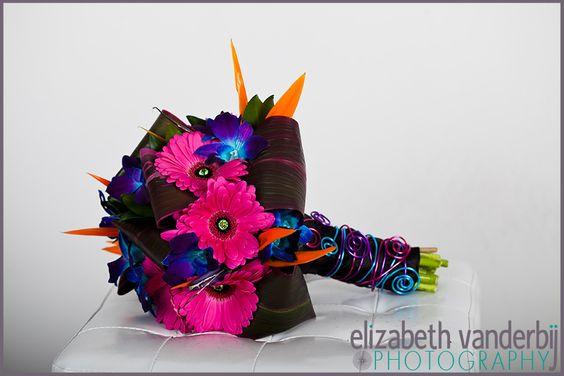 bright-pink-blue-wedding-bouquet