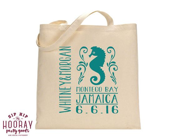 Beach Wedding Totes Mexico Totes Beach Bachelorette Destination Wedding Tote Bags Sandy Feet Salty Kisses Wedding Favor Bags 1428 by SipHipHooray