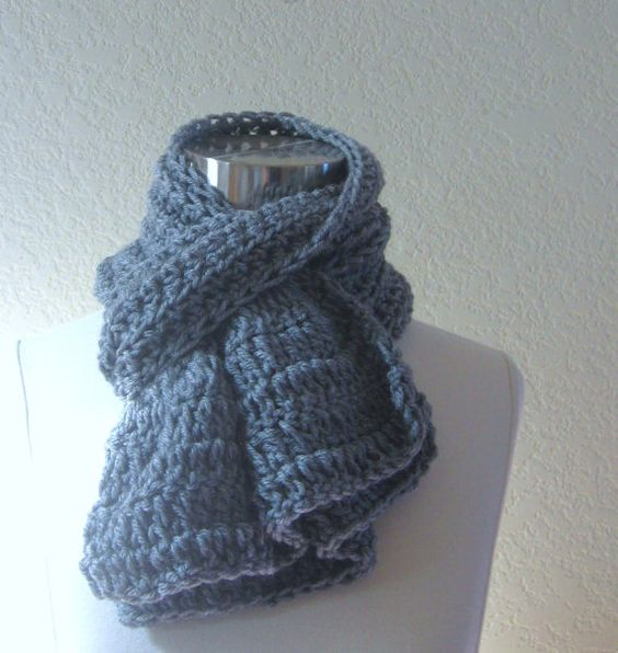 ROMANTIC GREY SCARF Gray Fashion Modern Chic by marianavail, $20.00