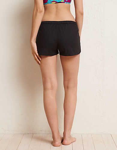 Aerie Woven Short , True Black | Aerie for American Eagle