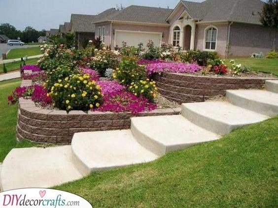 Sloped Gardens Front Yard Landscaping Ideas On A Budget Sloped