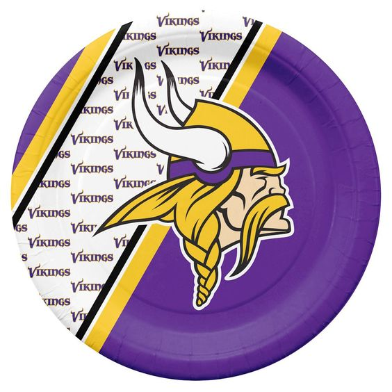 Minnesota Vikings Disposable Paper Plates