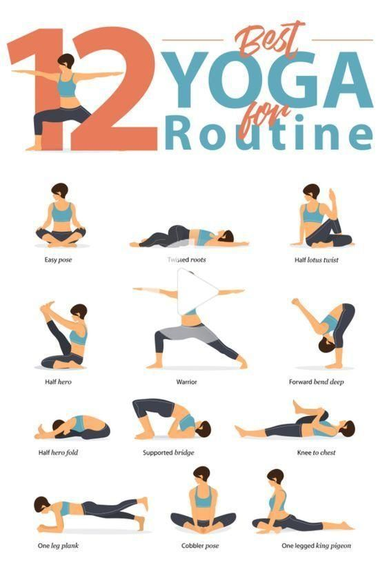 12 Best Yoga For Routine Yoga Pour Debutants Pose Yoga Exercices De Fitness