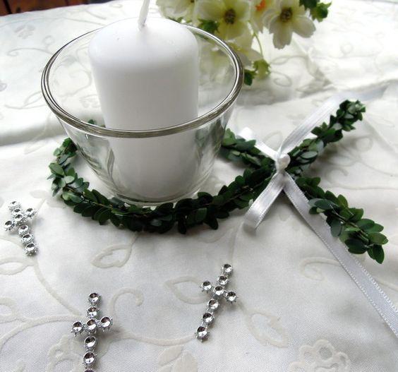 Tischdeko kommunion votivglas konfirmation fisch for Tischdeko fisch