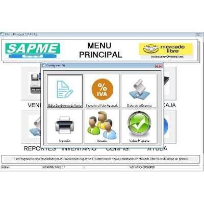 Programa Facturacion Inventario Administracion Pos - Bs. 1.999,00 en Mercado Libre