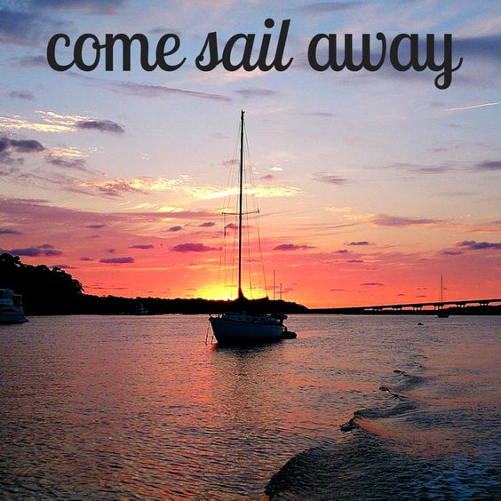 Come sail away to paradise. Hilton Head Island, SC. #sailing #travel