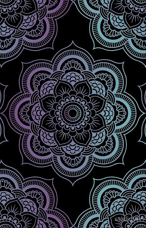 Mandalas Pattern Black Iphone Case Cover By Studiovii In 2021 Mandala Wallpaper Mandala Pattern Cellphone Wallpaper