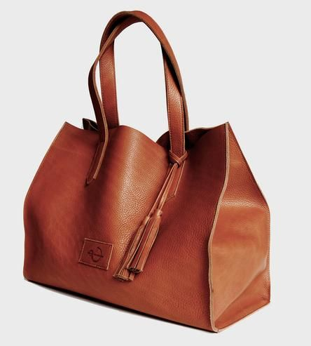 Equestrian Leather Tote Bag...