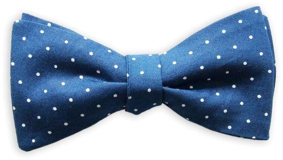 Querbinder Polka Dot blau – Zena Millan – handcrafted bow ties
