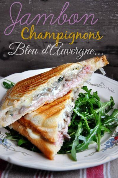 Croque-Monsieur au jambon, cantal et champignons | La cuisine de Doria