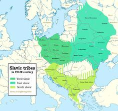 Slavic tribes in the 7th to 9th Centuries