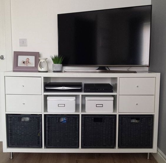 tv stands hacks and ikea on pinterest. Black Bedroom Furniture Sets. Home Design Ideas