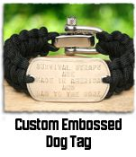 Custom Paracord bracelets - medical alert, teams, add your own picture, dog tags, etc. $29.99