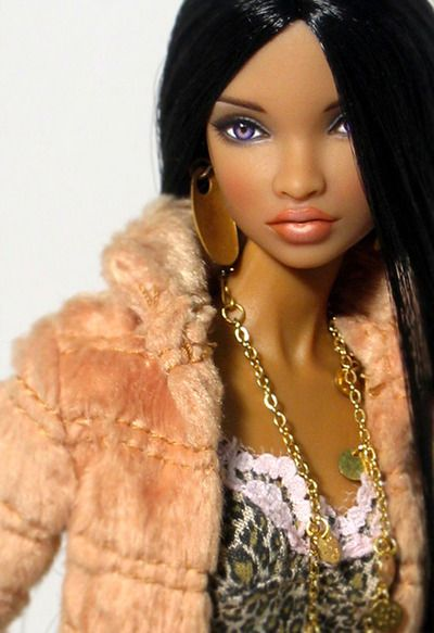 African american barbie So realistic! I mistook her for a real photo!