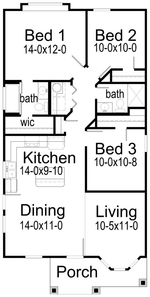 Three Bedroom House Plans house planskorel home designs small house plan. maybe no