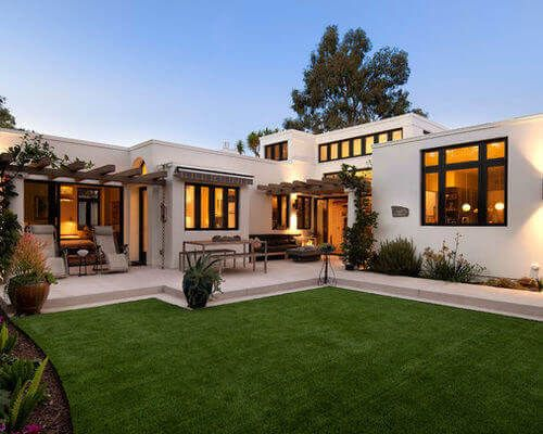 Modern Flat Roof House Spanish Style Homes Mediterranean Homes Exterior Modern Mediterranean Homes