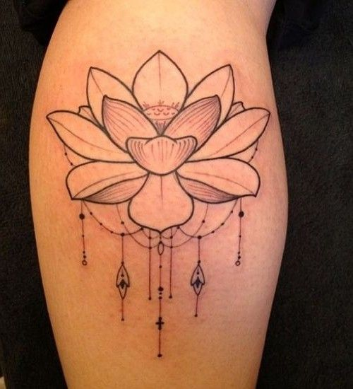 lotus tattoo simple design tattoos pinterest black lotus tattoo watercolor flower. Black Bedroom Furniture Sets. Home Design Ideas