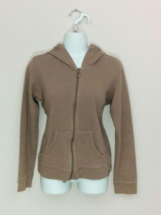 Columbia brown full zipper hoodie light jacket, Medium, #3305 #Columbia #Hoodie