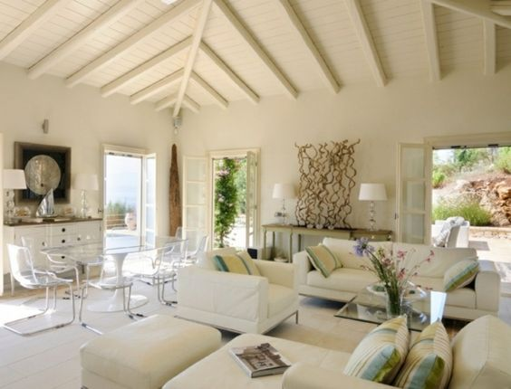 moderne wohnzimmer mit offener kuche einrichtungsideen fr, Wohnzimmer dekoo