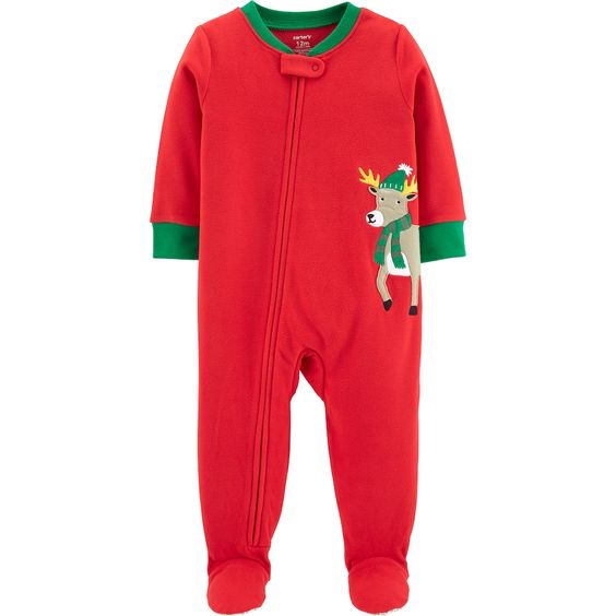 Baby Carter S Microfleece Christmas Footed Pajamas Trendy Baby Girl Clothes Carters Baby Boys Toddler Outfits