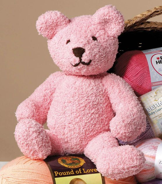 Knit this cute teddy bear for a baby gift! Knit with Jo-Ann Pinterest T...