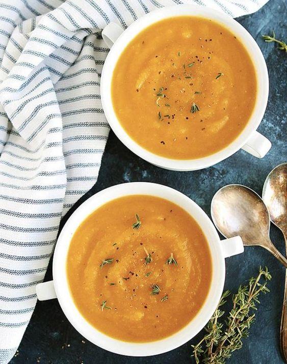 Easy Butternut Squash Soup {Instant Pot}
