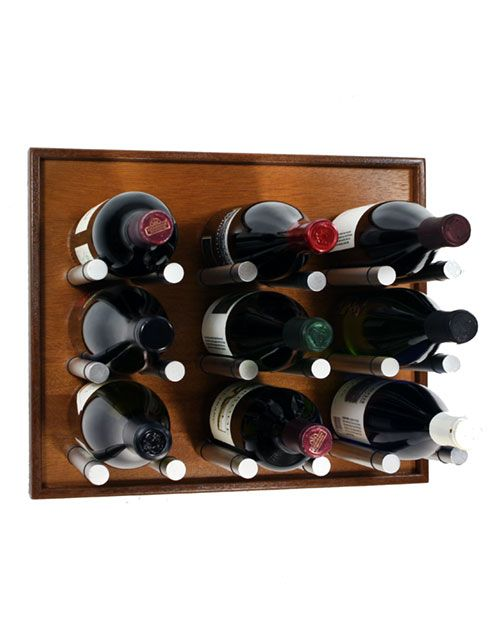9 Bottle Pin Panel Wine Rack Wine Pins Wall Mounted Wine Rack Wine Rack Hanging Wine Rack