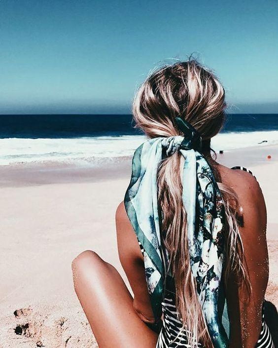 Beachy scarf.