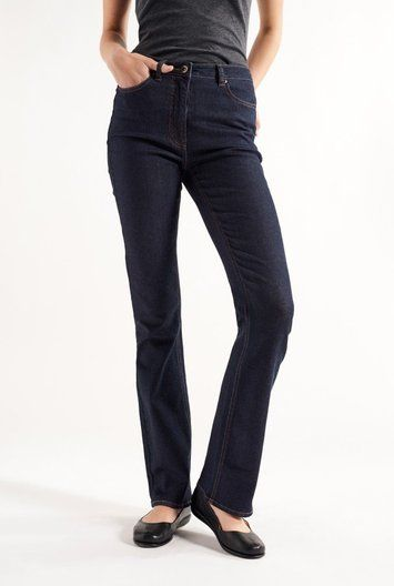 "These tall women's Shaper Bootcut Jeans come in 34"", 36"", and 38 ..."
