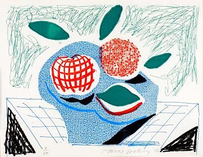 David Hockney Fruit in a Bowl