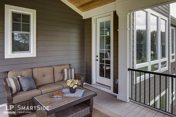 Lp smartside lap siding inside a screened in porch home for Lp smartside shakes coverage