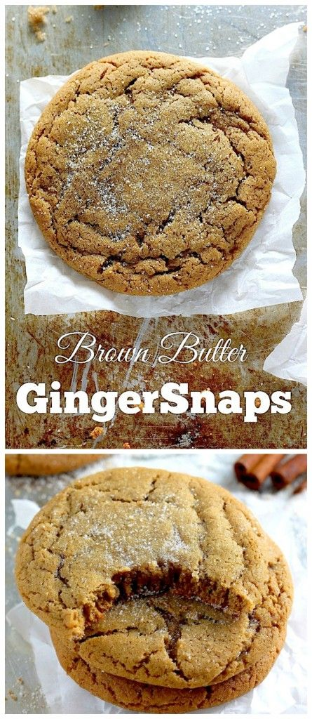 Soft and Chewy Brown Butter Gingersnaps - OMG these are incredible! A ...