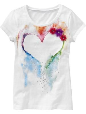 Fabric paint, glitter, and an old t-shirt. Brilliant.
