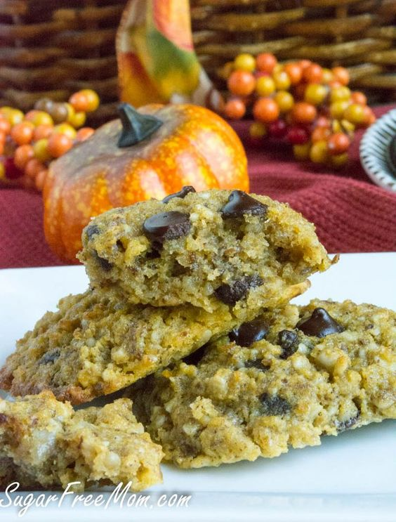 Sugar Free Pumpkin Chocolate Chip Cookies (Grain Free and ...