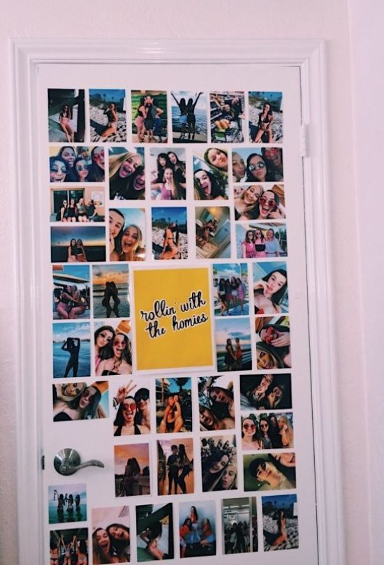 Dorm Room Photo Wall Ideas You Can Copy From Pinterest Society19 Dorm Room Pictures Photo Walls Bedroom Picture Wall Bedroom