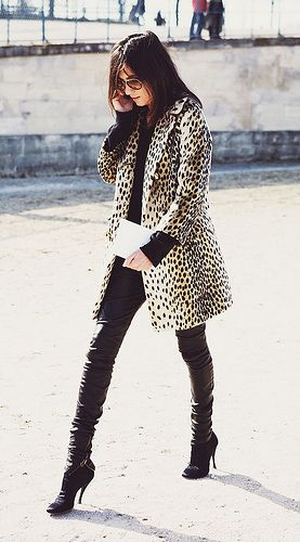 {fashion inspiration | style icon : emmanuelle alt}  Leopard Coat