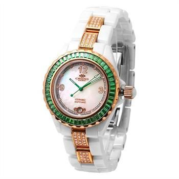 ONISS Ceramic Watch with Austrians Crystals