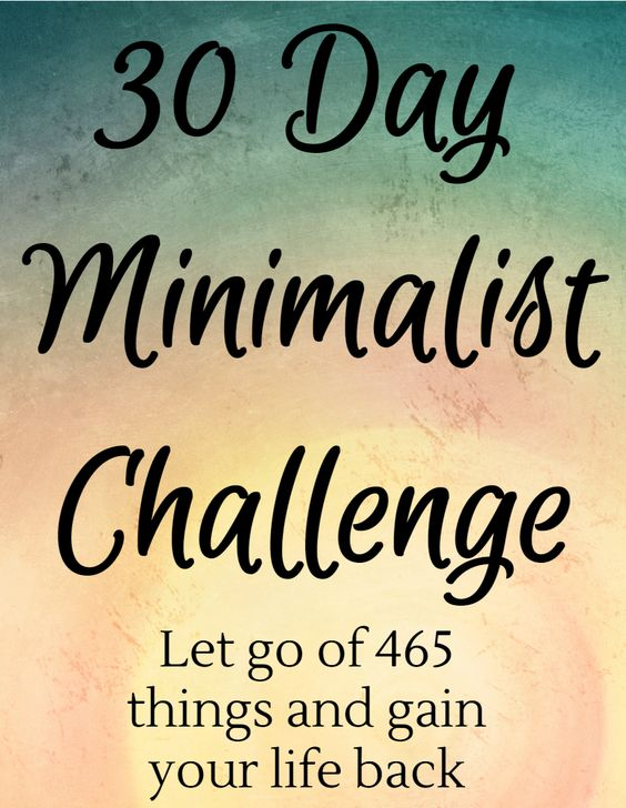 Purge your home and life of excess with the 30 day minimalist challenge. #minimalism #simpleliving: