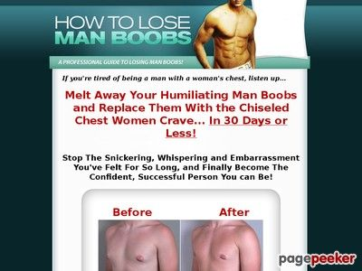 How To Lose Man Boobs