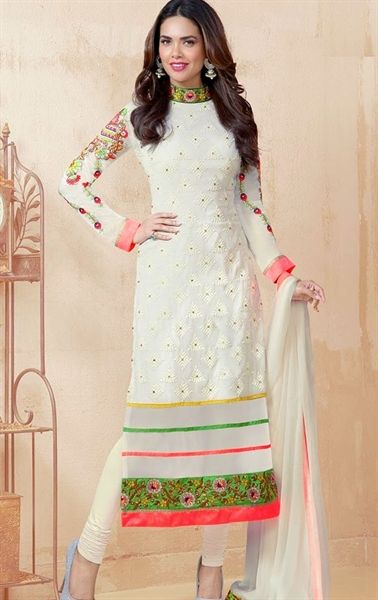 Salwar kameez, Casual and White suits on Pinterest