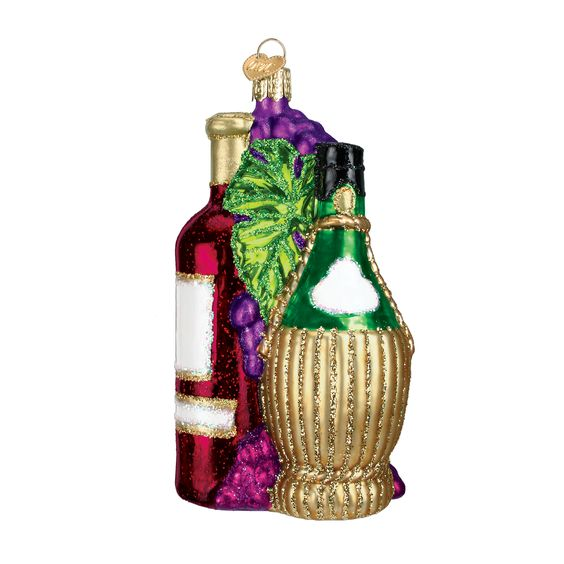 Today is #DrinkWineDay and we've go you covered, no matter your style of wine (by the bottle or barrel)! #vino #chianti #winebarrel #fruitofthevine #customornaments #oldworldchristmas #friendgiftidea  Fruit of the Vine Item #32144 CUSTOM!