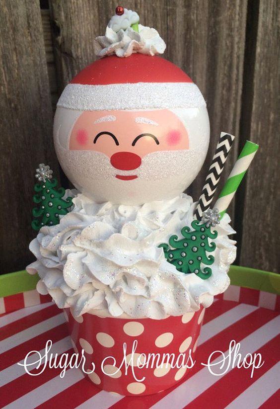 Secret Santa Santa Ornament Christmas by SugarmommasShop on Etsy